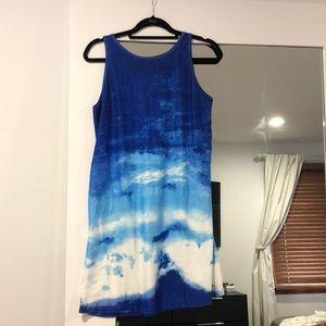 Vibrant blue skies summer dress